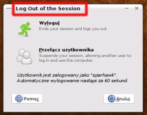 Wylogowywanie się z Ubuntu